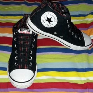 Converse CTAS Padded Collar Sneakers Punk Plaid 5